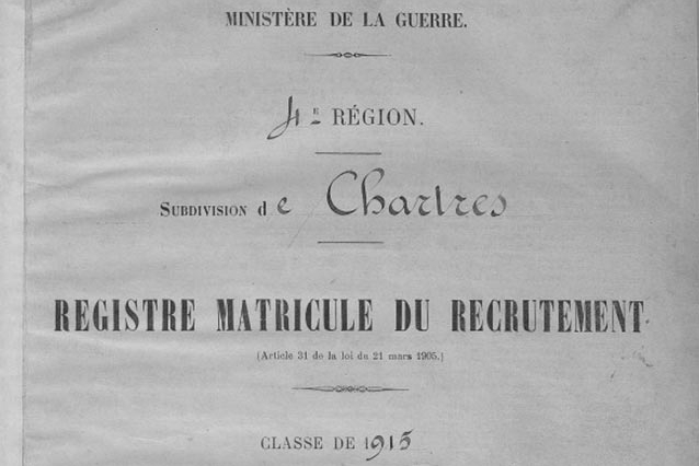 Registre matricule Archives28