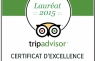 Certificate of Excellence 2015 - TripAdvisor